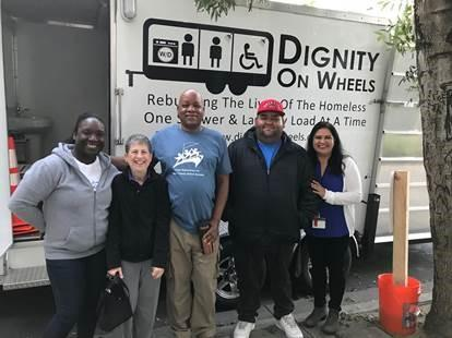 Dignity on Wheels staff and South County Staff