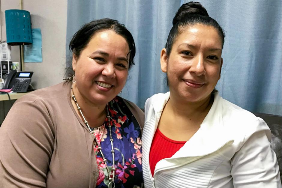 Aurora Gallardo (left), Intake Coordinator and Community Worker for StarVista's Early Childhood Community Team