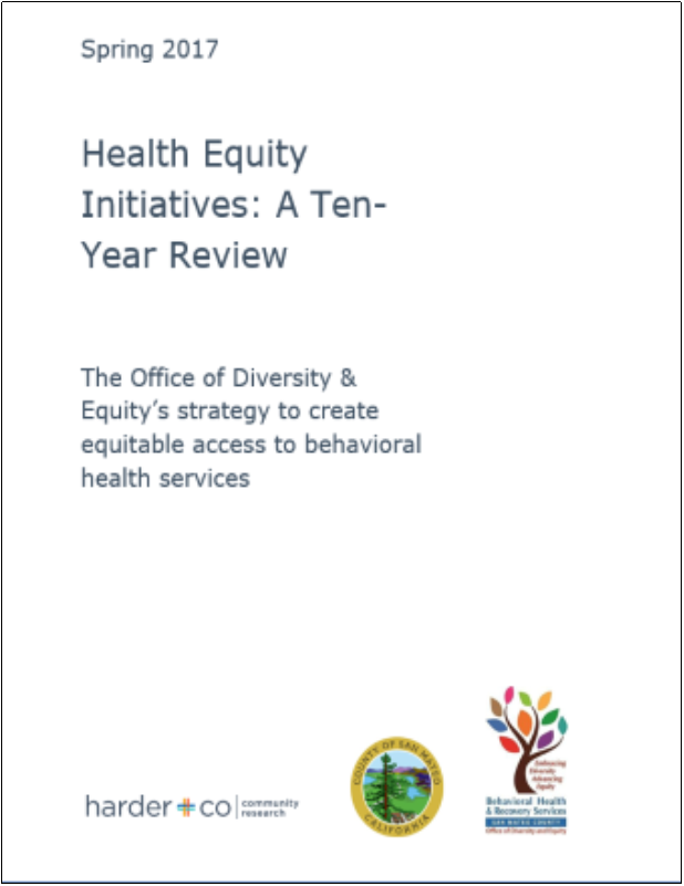 Health Equity Initiatives: Ten Year Review